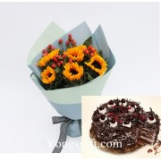 Cake And Flower To Taiwan