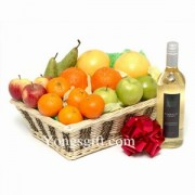 Fruit Basket with White Wine