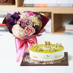 Cake Plus Flowers to Korea