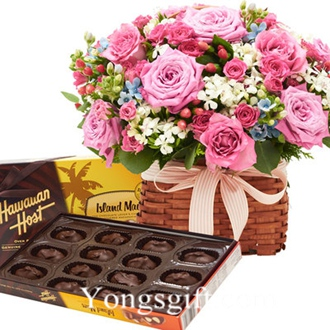 Flower with Chocolate to South Korea