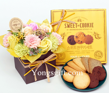 Cookie With Flowers to South Korea