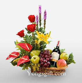 Flower, Wine and Fruits to Taiwan